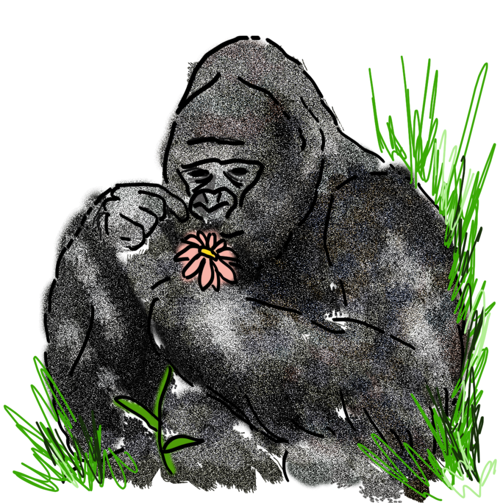 Gorilla_With_Flower